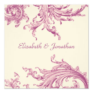 Elegant Violet Sweep Wedding Invitation