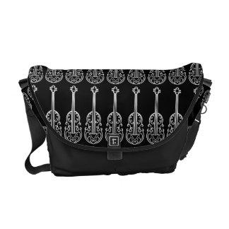 Elegant violin pattern courier bag