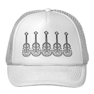 Elegant violin pattern trucker hat