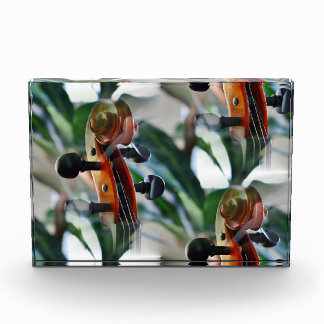 Elegant Violin Scroll Acrylic Award