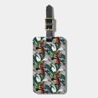Elegant Violin Scroll Bag Tag