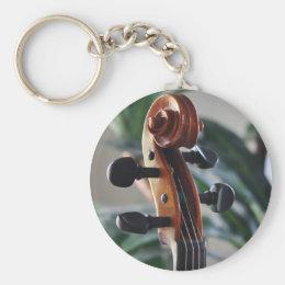 Elegant Violin Scroll Keychain