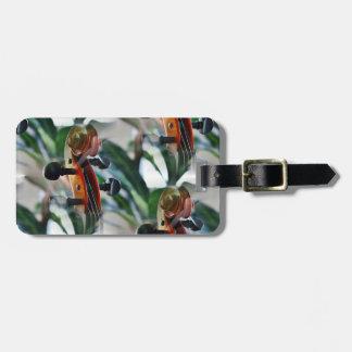 Elegant Violin Scroll Luggage Tag