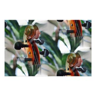 Elegant Violin Scroll Stationery