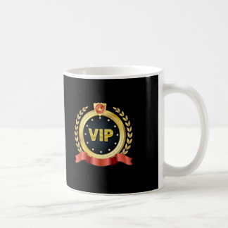 Elegant VIP Gold Medallion Coffee Mug