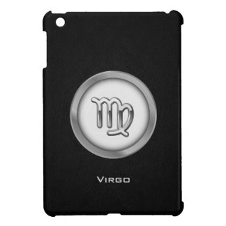 Elegant Virgo Zodiac Sign with Black Leather - iPad Mini Case