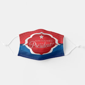 Elegant Vote for your President USA Election Cloth Face Mask