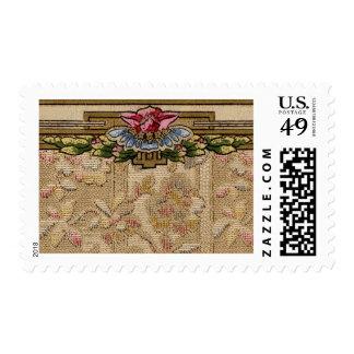 Elegant Wallpaper Floral Border Card Stamps