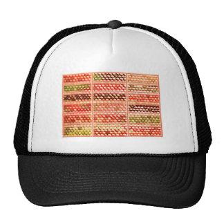 ELEGANT Warm Color EggSheels Shells Dots Circle Trucker Hats