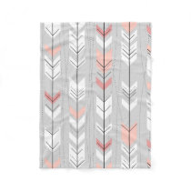 Elegant Warm Gray White Pink Arrows Raining Down Fleece Blanket