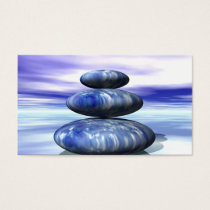 Elegant Water Color Logo Zen Yoga Healing Health Business Card