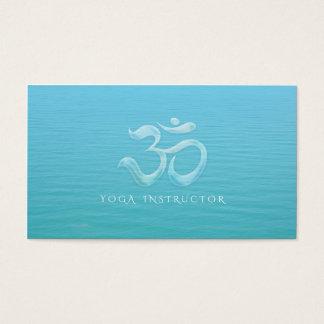 Elegant Water Drops Font OM Symbol YOGA Instructor Business Card