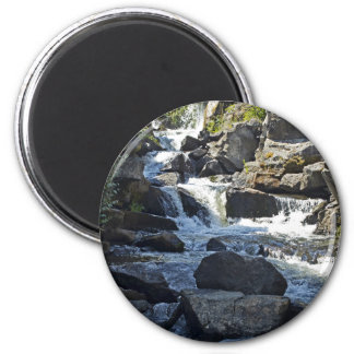 Elegant water fall 2 inch round magnet
