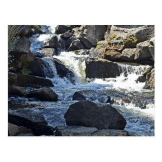 Elegant water fall postcard