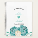 "Elegant watercolor blue Floral Wedding planner<br><div class=""desc"">Elegant chic watercolor blue Floral Wedding planner</div>"