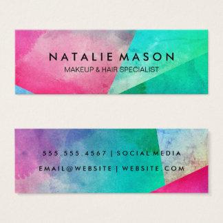 Elegant Watercolor Color Blocks Mini Business Card