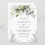"""Elegant Watercolor Eucalyptus Greenery Wedding Invitation<br><div class=""""desc"""">Create the perfect Wedding invite with this """"Watercolor Eucalyptus Greenery"""" template. This high-quality design is easy to customize to match your wedding colors, styles and theme. For further customization, please click the """"customize further"""" link and use our design tool to modify this template. If you need help or matching items,...</div>"""
