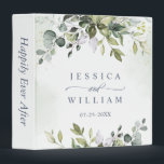 """Elegant Watercolor Eucalyptus Wedding Custom 3 Ring Binder<br><div class=""""desc"""">Elegant Watercolor Eucalyptus Wedding Custom 3 ring binder.  Customizable floral binder featuring watercolor hydrangeas,  peonies,  anemones and foliage. This floral binder will be perfect for personal use and an event like weddings,  bridal showers and baby showers.</div>"""