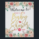 "Elegant Watercolor Floral Baby Shower Welcome Sign<br><div class=""desc"">Elegant Vintage Watercolor Floral Baby Shower Welcome Sign Poster Templates. All text style,  colors,  sizes can be modified to fit your needs.</div>"