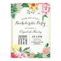 Elegant Watercolor Floral Bachelorette Party Card