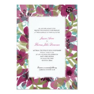 Elegant Watercolor Flower Garden | Wedding Card