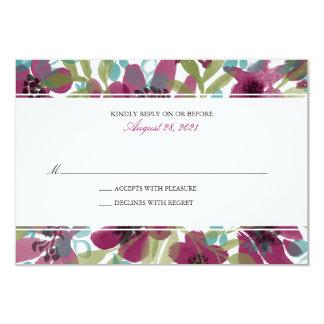 Elegant Watercolor Flower Garden | Wedding RSVP Card