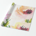 "Elegant Watercolor Flowers Wrapping Paper<br><div class=""desc""></div>"