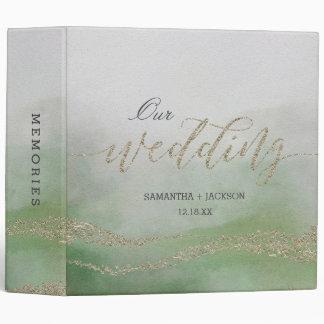 Elegant Watercolor in Foliage Wedding Photo Album 3 Ring Binder