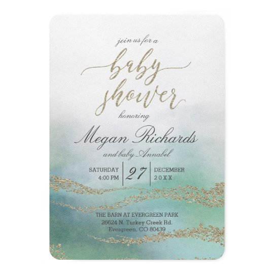 Elegant watercolor in ocean baby shower invitation zazzle elegant watercolor in ocean baby shower invitation filmwisefo