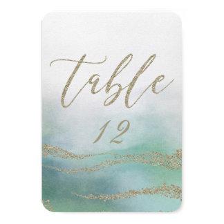 Elegant Watercolor in Ocean Wedding Table Numbers
