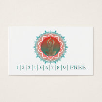 Elegant Watercolor Mandala YOGA Instructor Logo Business Card