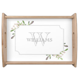 Elegant Watercolor monogrammed tray