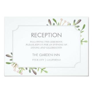 Elegant watercolor reception card