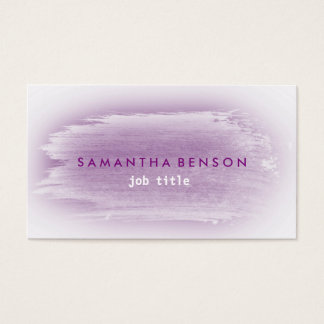 Elegant Watercolor Simple Splatter Purple Gray Business Card
