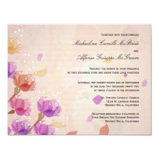 Elegant Watercolor Tulips Formal Wedding Invite