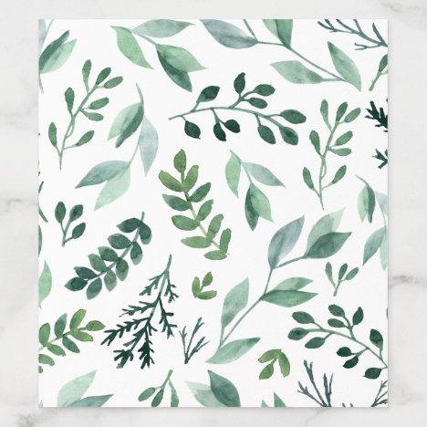 Elegant Watercolor Wedding Envelope Liner