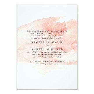 Elegant Watercolor Wedding Invitation