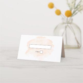 Elegant Watercolor Wedding Place Card