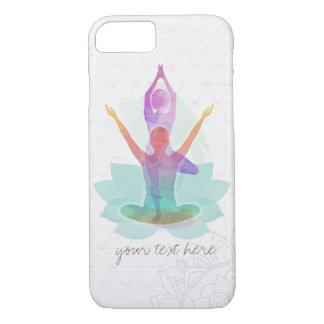 Elegant Watercolor Yoga Meditation Lotus Pattern iPhone 7 Case