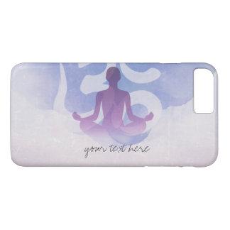 Elegant Watercolor Yoga Meditation Pose Om Symbol iPhone 7 Plus Case