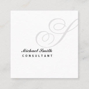 Watermark business cards templates zazzle elegant watermark monogram square business card colourmoves