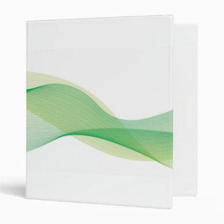Elegant Wave Green Binder