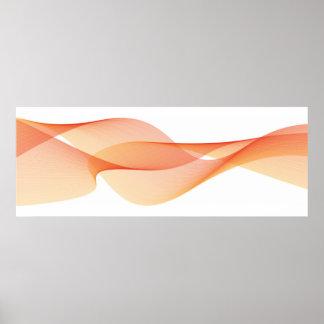 Elegant Wave Orange Poster