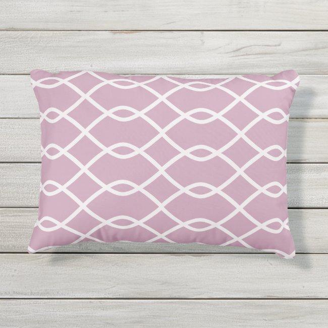 ELEGANT WAVE PATTERN - MAUVE - Outdoor Pillow