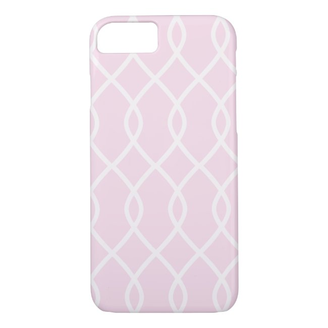 ELEGANT WAVE PATTERN - Soft Pink Phone Case