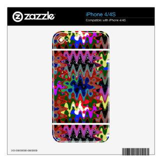 Elegant Wave Print on Shirt Pocket n back n gifts Skin For The iPhone 4S