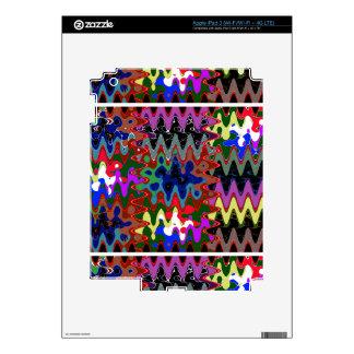 Elegant Wave Print on Shirt Pocket n back n gifts iPad 3 Decal