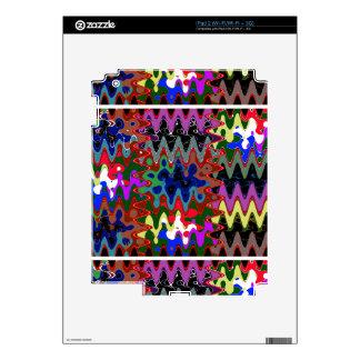 Elegant Wave Print on Shirt Pocket n back n gifts Skins For iPad 2