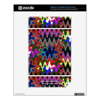 Elegant Wave Print on Shirt Pocket n back n gifts Skins For The NOOK Color