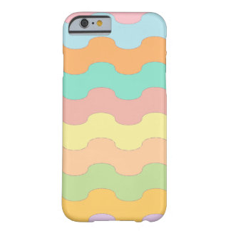 Elegant waves sea of colors and wavy geometry barely there iPhone 6 case